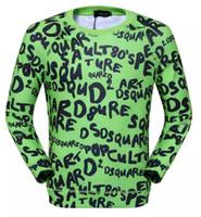 Wholesale Army Crewneck Sweatshirt - Funny graphic Emoji Letter printed 3D DSQU long Sleeve hoodies pullover mens fashion clothes Crewneck sweatshirt vetement homme summer tees