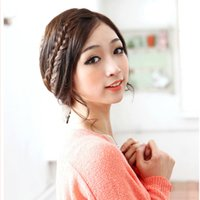Wholesale Braided Ponytail Extensions - 2016 Synthetic Fiber Hair Accessories Bangs Braid Hair Rope