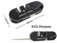 Wholesale Mini Knife Sharpener - Mini Tools Tungsten Steel Professional Repair Knife Sharpener Pocket Tool Keychain Black Pocket Outdoor Gear Gift Free DHL F420L