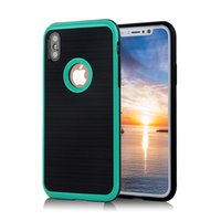 Wholesale Transparent Cell Phone Case Wholesale - For Apple iPhone X 8 7 6S Plus samsung note8 S8 S8+ S7 EDGE Anti-Fall Protection Shockproof Armor Hard TPU+PC cell phone cases