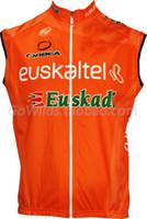 Wholesale Euskaltel Euskadi - WINDSTOPPER WINDPROOF 2012 Euskaltel Euskadi PRO TEAM ORANGE ONLY SLEEVELESS VEST CYCLING JERSEY CYCLING WEAR SIZE:XS-4XL