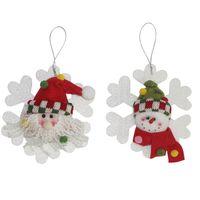 вешалки оптовых-lastest творческий Счастливого Рождества Красная елка стенд висит 4,92 дюйма Санта-Клаус снежинка подарок декор (пакет из 2)