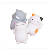 Cute New Squishy Cat Kawaii Squishies Squeeze Stretchy Animal Phone Charms Healing Stress Reliever Toy Fidget Brinquedos Gift Cell Gift