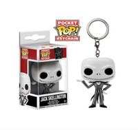 Wholesale Key Box Toy - FUNKO Pocket POP Keychain Nightmare Before Christmas Jack Skellington key chain toy doll Model Collection Ring with Original Box