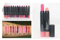 lápis lindos venda por atacado-Frete grátis! Chegam novas Maquiagem Lábios Lindas Cores Lápis Lápis Caneta Batom (12 pçs / lote)