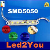 diseño de módulos al por mayor-1000 unids 5-LEDS SMD 5050 Módulo LED Impermeable IP65 DC12V LED Retroiluminación Publicidad Diseño Módulos LED que Enciende El Envío Libre