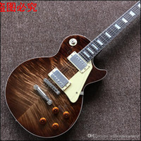 Wholesale Real Flame - New arrive Custom Shop 1959 r9 Tiger Flame top standard Electric Guitar Real photo shows