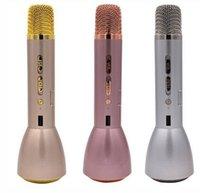 Wholesale Outdoor Songs - K088 Magic Karaoke Microfone K Song Portable Wireless Bluetooth Microphone With Bluetooth Speaker Power Bank Outdoor KTV VS K068 K068i