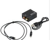 Wholesale Toslink Converters - Digital to analog Converters Audio Converter Digital Optical Coaxial RCA Toslink to Analog Audio Converter Adapter