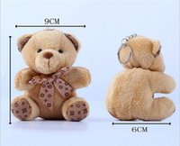 Wholesale most popular toys - 10cm Teddy Bear Plush Toys the Most Popular Plush Key Chain Toys Cartoon Animals Doll Mini Plush Furnishing Articles