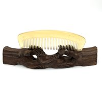 Wholesale Horn Comb Wholesale - Wholesale-L-124 Natural Sheep Horn Boutique Comb Hair Care Accessories