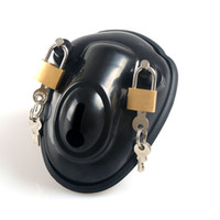 Wholesale Enclosed Chastity - Europe and America Super Bowl Male Chastity Device With 2 Lock Fully Enclosed Penis Cock Cage Erotic Toys Cock Rings