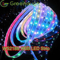 Striscia digitale DC5V RGB LED indirizzabile LED striscia flessibile LUCI LED WS2812B intemperie luci di striscia 30LEDS / M 5M / Roll