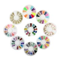 Wholesale Floral Nail Art Designs - New Mix Color Floral Design Nail Art Stickers Decals Manicure Beautiful Fashion Accessories Decoration 10set Lot B0628