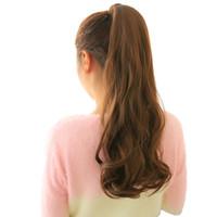 saç uzantıları dalgalı at kuyruğu klip toptan satış-24 '' Uzun Dalgalı At Kuyruğu Doğal Pony Tail Saç Uzantıları Klip üzerinde Klip Sahte Saç Parça Sahte Saç Kuyruk Ponytails