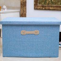 Fabric Clothing Folding Multicolor Covered Cloth Storage Box Foldable  Storage With Lid Basket Organizer Bins Storage