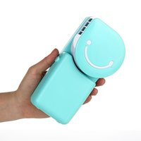 Wholesale Home Air Humidifier - Portable Mini Air Conditioner Water Mist Fan For Home Office Ourdoor Creative Smile Face Humidifier Handheld Air Cooler Fan