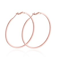 Großhandel-2016 HOT Fashion Big Creolen Rose Gold farbe Basketball Frauen Ohrringe Frauen Luxus Stil Schmuck Party Damen