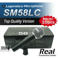 mikrofon 58lc toptan satış-Microfono 10 adet En Kaliteli Sürüm SM 58 58LC SM58LC Karaoke El Dinamik Kablolu Mikrofon Içinde Gerçek Trafo Mic ücretsiz mikrafon