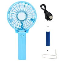 Wholesale Foldable Hand Fans Battery Operated Rechargeable Handheld Mini Fan Electric Personal Fans Hand Bar Desktop Fan