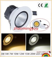 Wholesale Spot Recessed Dimmable - YON Dimmable led downlight COB Ceiling Spot Lights 3W 5W 7W 10W 12W 15W 20W LED ceiling Recessed lamp 4000K Indoor Lighting
