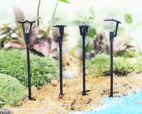 ingrosso miniature fairy garden-Mini lampada da strada fairy garden miniature gnome moss terrari desktop bottiglia resina giardino artigianato decorazione