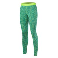 Wholesale Nine Point Trousers - New Woman Fashion Plus-size Tight Gym Clothing Quick-Drying Stretch Nine Points Trousers Sports Running Training Colorful Pants