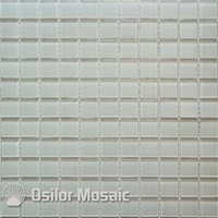 Wholesale Crystal Glass Tiles Wholesale - white crystal and glass mosaic tile for bathroom and kitchen wall tile 25x25mm 4 square meters per lot