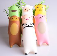 Wholesale Cartoon Monkey Pillow - 1PC 15CM Jumbo Squishy Ikiru&friends Hand Pillow Cartoon Panda Tiger Monkey Sheep Bread Fun Toy Christmas
