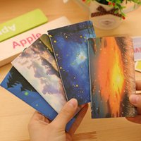 Commercio all'ingrosso - Glowworm Firefly <b>Starry Night Sky</b> Cover Sunset Cover Mini Notebook Notebook 80K Notepad Bello Diario Book Studenti Regalo