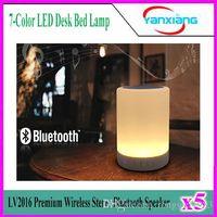 UK usb desk led - 5pcs Wireless Stereo Bluetooth Speaker Box LV2016 Premium 7-Color LED Desk Bed Lamp Eyes Protection Hands-free YX-LV-02