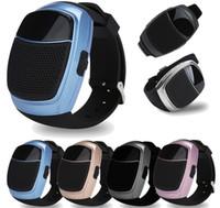 mini u8 toptan satış-B90 Mini İzle Stil Bluetooth Hoparlörler Kablosuz Subwoofer Hoparlör Handsfree LED Ekran TF FM USB VS DZ09 U8 BT808L A1 Akıllı İzle