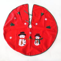 Wholesale Fabric Christmas Tree Ornament - 90cm Christmas Tree Skirt Hot new Santa Claus snowman Christmas Tree Decorations Supplies Non woven Fabric Decoration