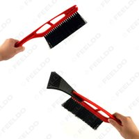 Wholesale Car Snow Brushes Scrapers - 10set lot Universial for Long Handle ABS Snow Brush With Ice Scraper Garden Outdoor Car Snow Shovel Tool