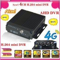 Wholesale Dvr Channel 3g Wifi - 3G GPS Car DVR, 4 Channel 720p Mobile DVR H.264 4ch full 720P car dvr 3G 4G GPS WIFI supported vehicle dvr bus dvr