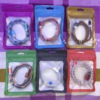 handys pakete großhandel-NEUE Perle Einzelhandel Tasche PVC Kunststoff Poly Taschen OPP Verpackung Zipper Lock Paket Zubehör mit Griffen für Handy