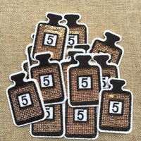 Wholesale Embroidered Sequin - Free Shipping~Sequin LOGO fashion Iron On Embroidered Patch Appliques DIY bag clothing patches Applique Badges