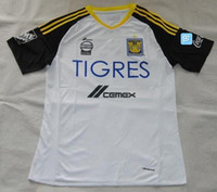Wholesale Cheap White Shirts Wholesale - Thai Quality Customized 2016 Tigres UANL white soccer jersey,discount Cheap mens Tigers UANL home away shirt GUERRON football jerseys Wear