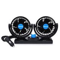 Wholesale Kia Soul Inches - Adjustable 360 Degree Rotating 2 Gears Car Fan 12V Mini Summer Air Cooling Fan KIA sportage 2017 RIOCeratoForteOptimaceedSoulCarnival