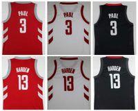 Wholesale 13 Basketball Jersey - 2018 New NK 3 Chris Paul Jersey 13 James Harden Red White Black Basketball Jerseys Chris Paul James Harden College Shirts