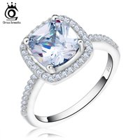 Wholesale Wedding Proposal Rings - ORSA New Jewelry Luxury Cubic Zircon Ring for Proposal Women Wedding Engagement Finger Rings OR94