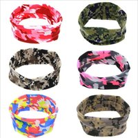 Compra Archi Da Capelli Camuffamento-Nuovo neonate camuffamento dell'orecchio del coniglietto delle fasce Newborn Infants elastico dell'arco Hairbands bambini Croce nodo Headwear Accessori per capelli 6Colors KHA96