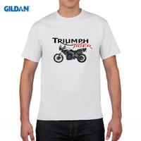 Wholesale White Green Motors - Triumph Tiger T Shirt Short Sleeve Men's T-shirt 2017 Hot Leisure Big Size Cotton Crewneck Motor Men's Clothes
