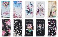 Wholesale Eiffel Tower Wallets - Fashion Eiffel Tower Wallet Leather Case For Iphone 7 4.7 Plus  6 6S 5.5 SE 5 5S Dreamcatcher Flower Butterfly Skull Cartoon TPU Flip Cover