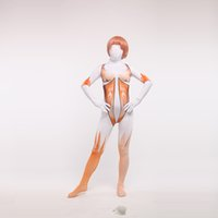 atacar titan zentai al por mayor-Envío gratis atacar a Titan Sexy Zentai femenino traje de Halloween Cosplay Zentai Catsuit disfraces