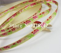 Wholesale Ribbon 9mm Flower - 9mm Flower Pattern Embroidered Grosgrain Ribbon Decorative Crafts 2y lot 040054065