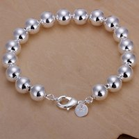 Wholesale indian buddha charms for sale - Group buy brand new m Buddha beads bracelet solid925 silver charm bracelet x1 cm DFMWB136 women s sterling silver plated jewelry bracelet