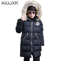 Wholesale Duck Down Jackets For Boys - Wholesale-2016 Boys Jackets Parka Thick Cotton Outerwear Childen Winter Jackets For Boys Down Jackets Coats Warm Down OUMU149