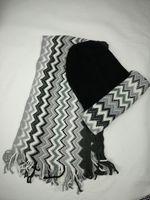 Wholesale Tie Set Price - Promotion Italian designs zig zag winter warm acrylic men beanie scarf sets cheap price 1 set on sale