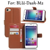 Wholesale Blu Dash Cover - BLU-Dash M2 Wallet phone case Flip cover Vintage PU Leather and TPU defender protective phone shell mobilephone accessories